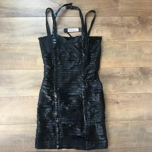 Faith Connexion Black leather dress